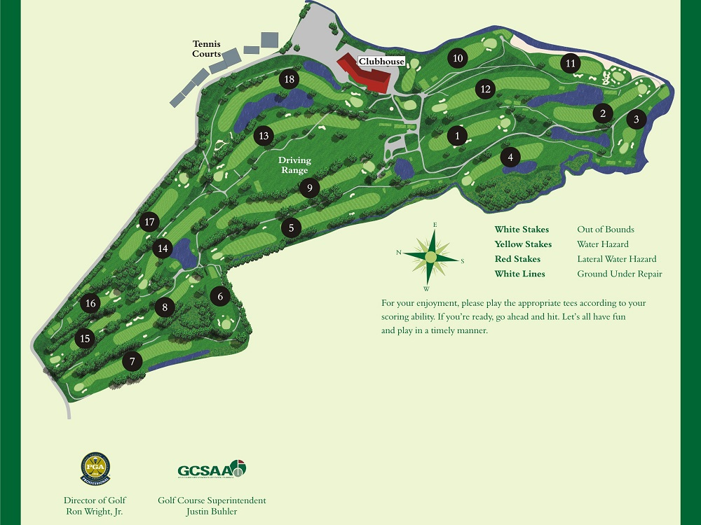 Course Layout The Golf Club At Middle Bay